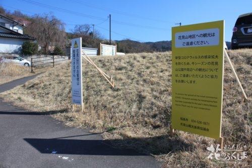 福島県福島市 花見山公園の情報 2020年3月19日