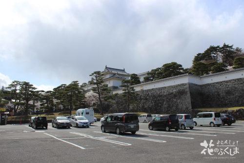 福島県二本松市 県立霞ヶ城公園(国指定史跡 二本松城跡)の駐車場 2020年4月10日 写真8